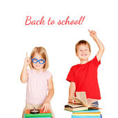 Happy children with books. Back to school — Stock Photo