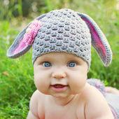 baby like a bunny or sheep — Zdjęcie stockowe