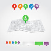 Paper city map — Stock Vector