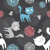 Vector cat pattern — Stock Vector