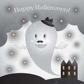 Vector cute ghost — Stock Vector