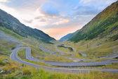 Transfagarasan winding road — Stock Photo