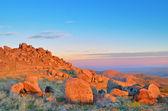 Alba nel paesaggio montagne — Foto Stock
