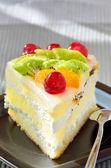 Fruit cookie slice — Stock Photo