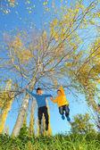 Boys jumping — Stock Photo