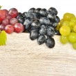 Types of grapes on wood — Stock Photo #19714421