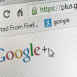 Google plus homepage - Stock Photo