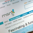Mns homepage — Stock Photo