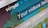 Vimeo homepage — Stock Photo