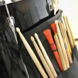 Snare Drum and Drum Sticks — Stock Photo