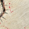 Crown of thorns with blood on grungy background — Stock Photo #21349423
