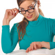 Teen girl studying — Stock Photo