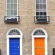 Georgian doors in Dublin — Stock Photo