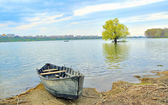 Boat on shore of danube — Stock Photo