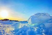 Led v grónsku v jarním období — Stock fotografie