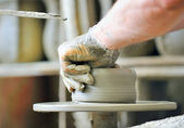 Making of a ceramic vase — Stock Photo