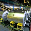 Stock Photo: Rolls of steel sheet in plant