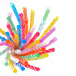 Multi color flexible straws — Stock Photo