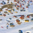 Greenland village — Stock Photo