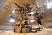 Old extraction salt machine — Stock Photo