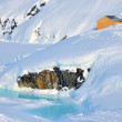 House on glacier in Greenland — Stock Photo #30301051