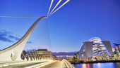 Samuel Beckett Bridge in Dublin — Stock Photo