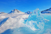 Mountain peaks in greenland — Foto de Stock