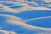 Waves of snow bumps — Stock Photo