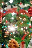 Christmas party sparkler — Foto de Stock