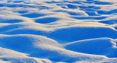 Waves of snow bumps — Stockfoto