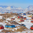 Colorful houses in Greenland — Stock Photo