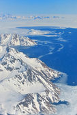 Winter landscape - Panorama at north pole — Stock Photo
