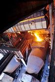 Transporting molten steel — Stock fotografie