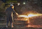 Ocelové pracovník — Stock fotografie