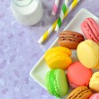 Stock Photo: colorful macaroons