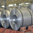 Stock Photo: Rolls of steel sheet