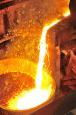 Pouring molten metal  — Stock Photo