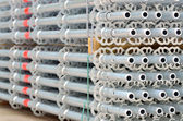 Stack of scaffolding — Stock Photo