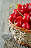 Basket of cherries  — Stock Photo