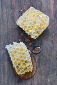 Sweet honeycombs with honey — Stock Photo