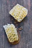 Süße Waben mit Honig — Stockfoto