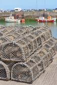 Trampas para la captura de pesca y mariscos — Foto de Stock