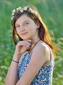 Portret van mooi meisje — Stockfoto