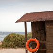 Lifeguard hut on the beach — Stock Photo
