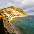 Stock Photo: Coastal secliffs with boats