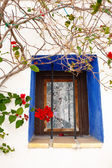 Mediterranean Window with flowers — Stock Photo
