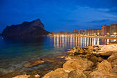 Night view of coastline — Stock Photo