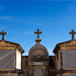Stock Photo: Tombs and cross in cemetery