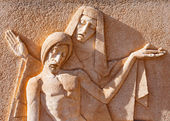 Sculpture of the Virgin and Jesus Christ — Stock Photo