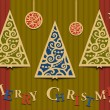 Royalty-Free Stock Vector Image: Three Christmas trees applique